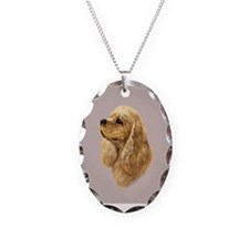 Cocker Spaniel (American) Necklace Oval Charm