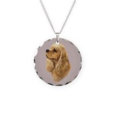 Cocker Spaniel (American) Necklace Circle Charm