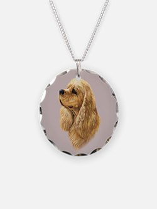 Cocker Spaniel (American) Necklace Circle Charm