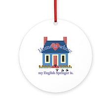 English Springer Spaniel Ornament (Round)