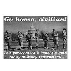 Go Home Civilian Postcard