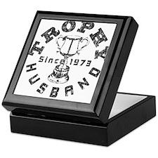 Trophy Husband Since 1973 Keepsake Box
