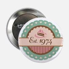 "1974 Birth Year Birthday 2.25"" Button"