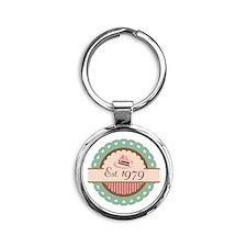 1979 Birth Year Birthday Round Keychain