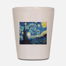 starry night van gogh Shot Glass