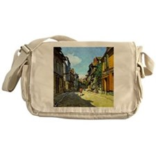 Monet - La Rue Bavolle at Honfleur Messenger Bag