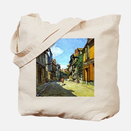Monet - La Rue Bavolle at Honfleur Tote Bag