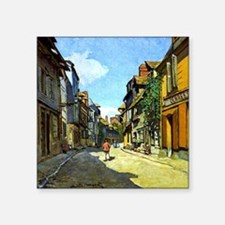 "Monet - La Rue Bavolle at H Square Sticker 3"" x 3"""