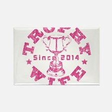 Trophy Wife Since 2014 pink Rectangle Magnet
