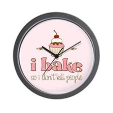 I Bake So I Don't Kill People Wall Clock