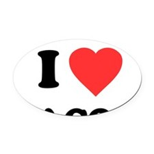 ilovebacon-white Oval Car Magnet
