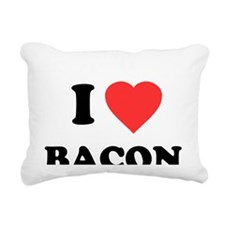 ilovebacon-white Rectangular Canvas Pillow