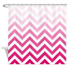 Pink Gradieents Chevrons 1 Shower Curtain