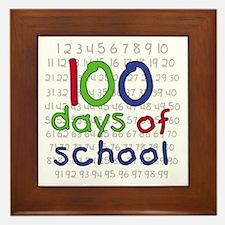 Numbers 100 Days Framed Tile