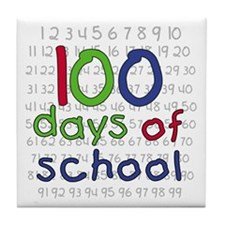 Numbers 100 Days Tile Coaster