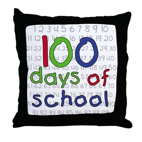Throw Pillow With Numbers : Numbers 100 Days Throw Pillow by peacockcards