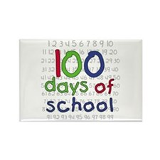 Numbers 100 Days Rectangle Magnet