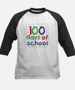 Numbers 100 Days Kids Baseball Jersey