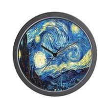 starry night van gogh Wall Clock