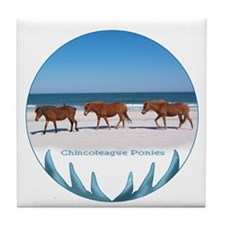 Chincoteague Pony Tile Coaster