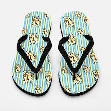 Cute Wheaten Scottie Flip Flops