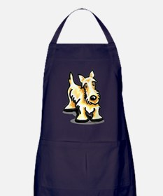 Cute Wheaten Scottie Apron (dark)