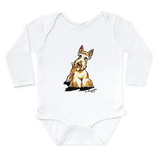 Wheaten Scottie Art Long Sleeve Infant Bodysuit
