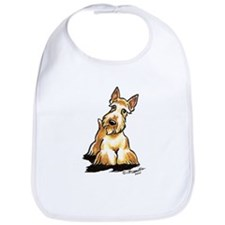 Wheaten Scottie Art Bib
