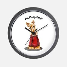 Wheaten Scottie Manipulate Wall Clock