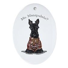 Scottie Manipulate Ornament (Oval)