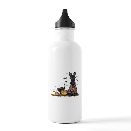 Halloween Scottie Stainless Water Bottle 1.0L