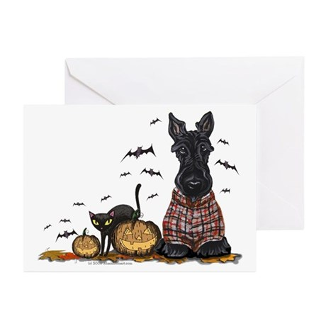 Halloween Scottie Greeting Cards (Pk of 10)