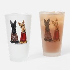 Sweater Scotties Drinking Glass