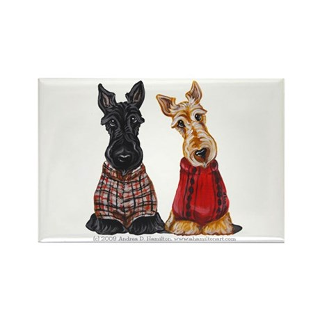 Sweater Scotties Rectangle Magnet