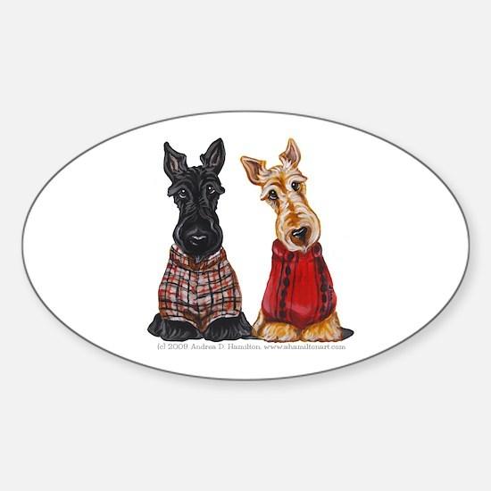 Sweater Scotties Sticker (Oval)