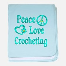 Peace Love Crocheting baby blanket