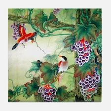Nature Oriental Art Tile Coaster