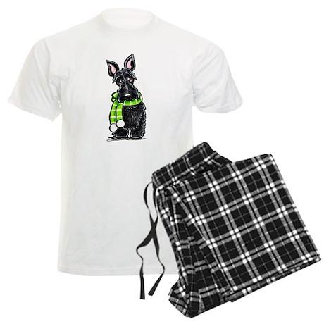 Scottie Scarf Men's Light Pajamas