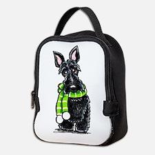Scottie Scarf Neoprene Lunch Bag