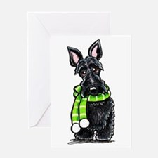 Scottie Scarf Greeting Card