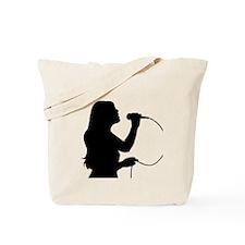 Female Singer Tote Bag