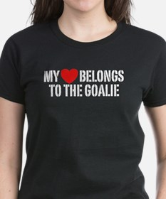 My Heart Belongs To The Goalie Tee
