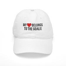 My Heart Belongs To The Goalie Baseball Cap