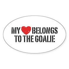 My Heart Belongs To The Goalie Decal