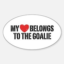 My Heart Belongs To The Goalie Decal
