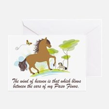 Wind of Heaven - Paso Fino Greeting Card