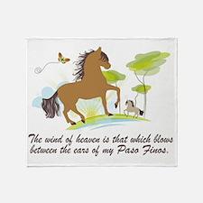 Wind of Heaven - Paso Fino Throw Blanket