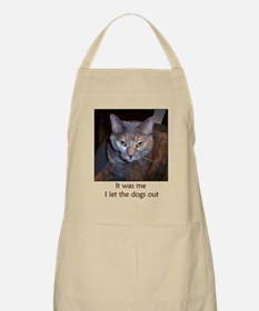 Cat Let The Dogs Out Apron