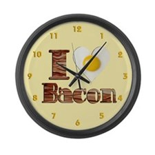 Love Bacon Large Wall Clock