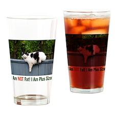 Plus Sized Cat Drinking Glass